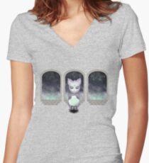 Mystic Miku   Crystal Ball & Zodiac   Light Purple Fitted V-Neck T-Shirt