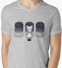 Mystic Miku   Crystal Ball & Zodiac   Light Purple V-Neck T-Shirt
