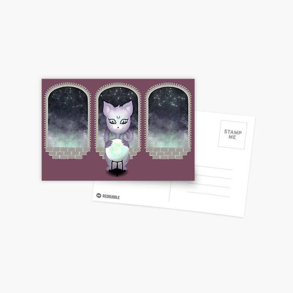 Mystic Miku | Crystal Ball & Zodiac | Light Purple Postcard