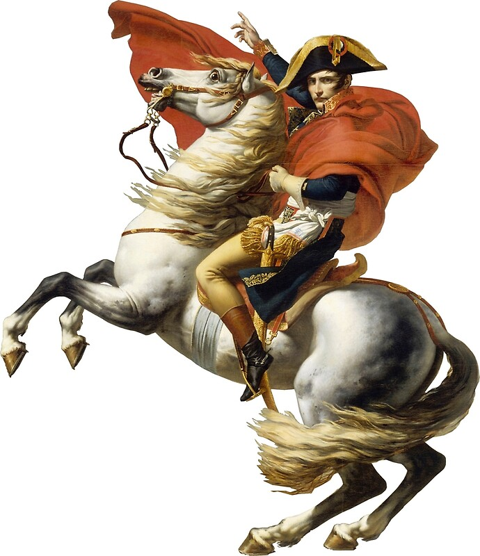 Napoleon on his horse art prints by caiuslucius redbubble for Napoleon horse painting