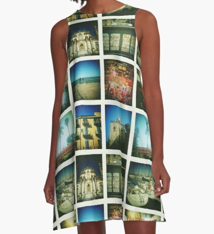 Postcards from Palermo A-Line Dress