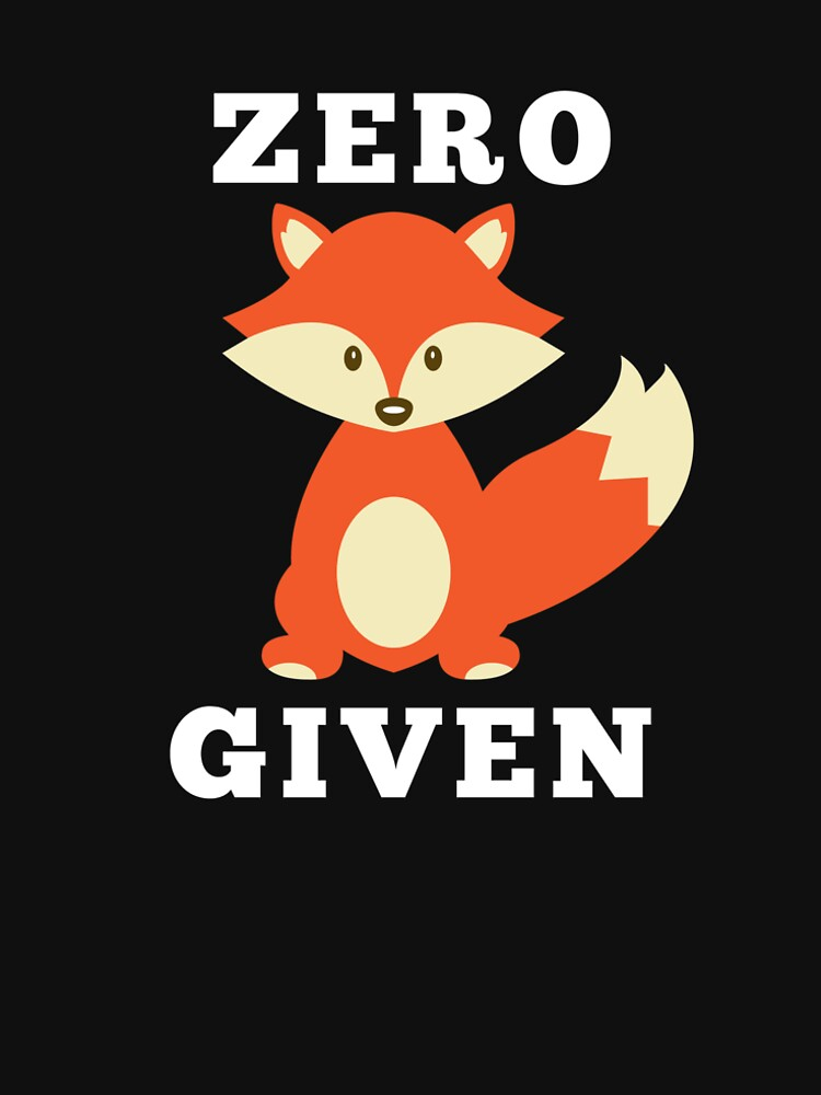 Zero FOX Given by loveablefringe