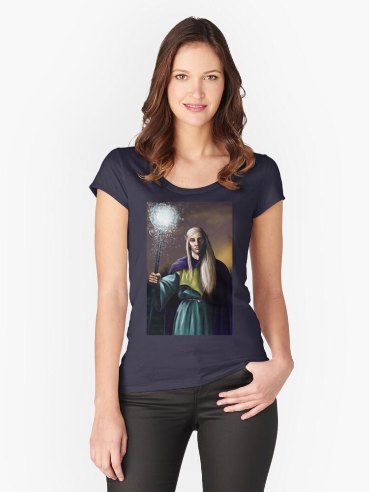 Elven Wizard Women's Fitted Scoop T-Shirt Front