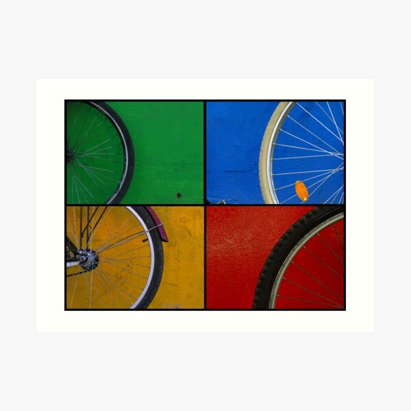 Bike Wheels Art Print