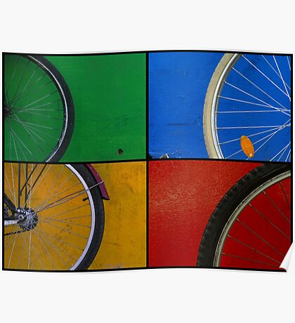 Bike Wheels Poster
