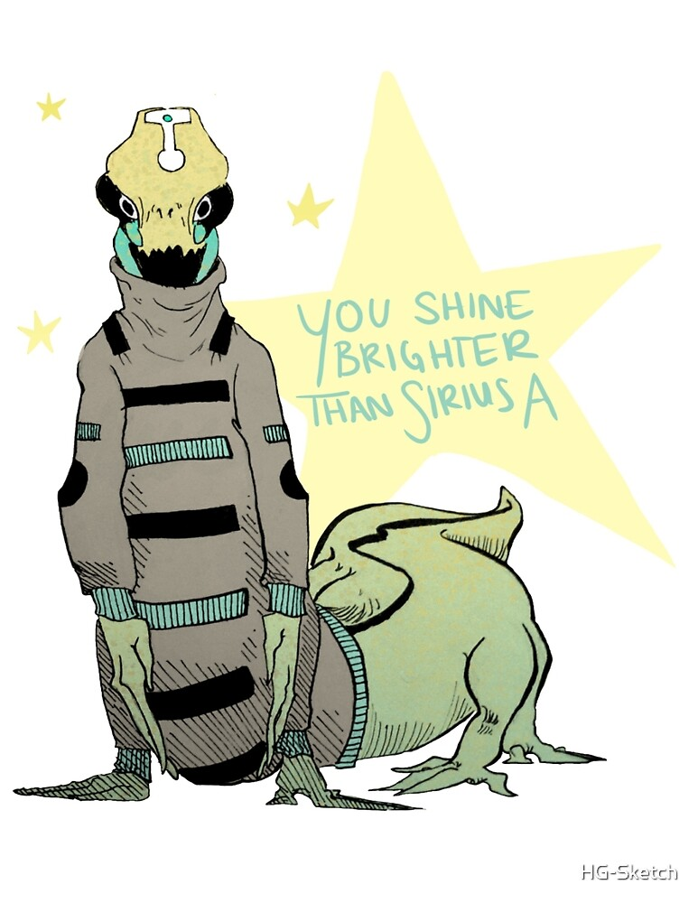 You Shine Brighter Than Sirius A by HG-Sketch