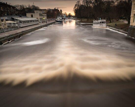 Fyris river Uppsala by BnW-Vision