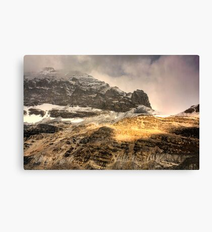 Athabasca Golden Peaks Canvas Print