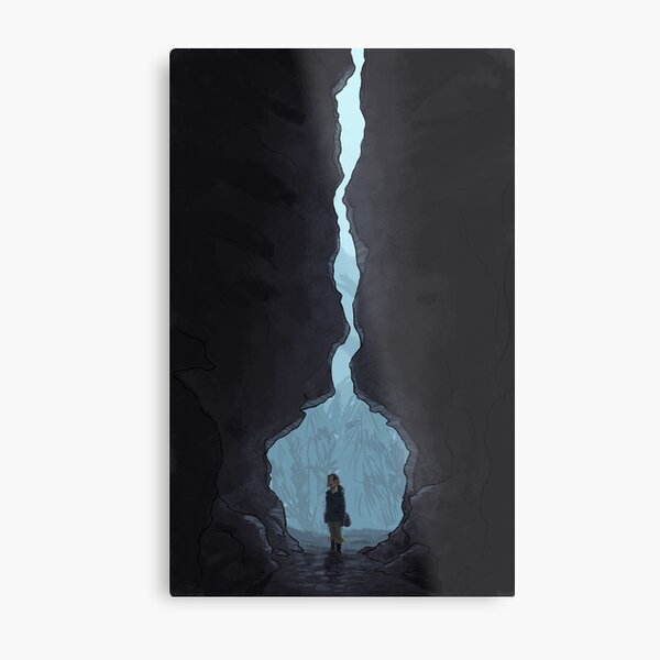 Entering the Cave Metal Print