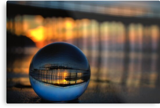 Avila Beach Captured in a crystal ball refraction photograph by MarniePatchett