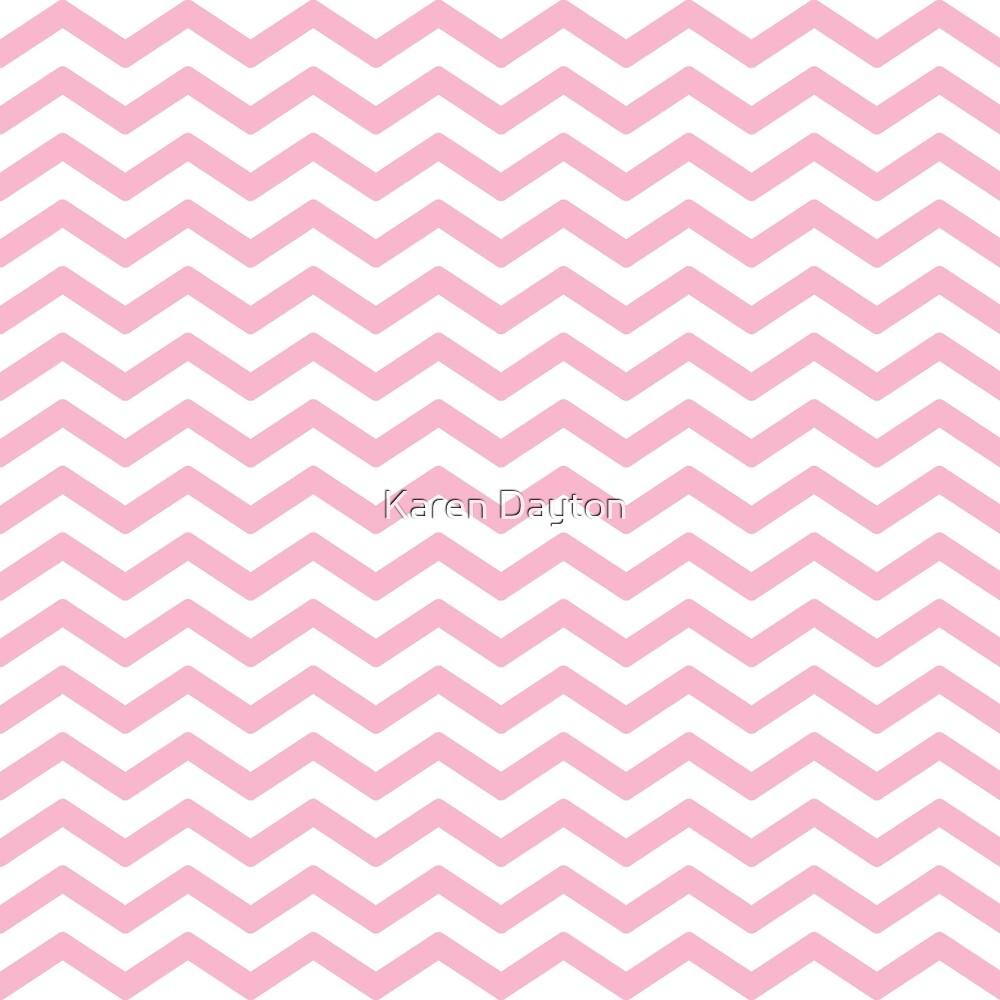 Pink Chevron Pattern by Karen Dayton