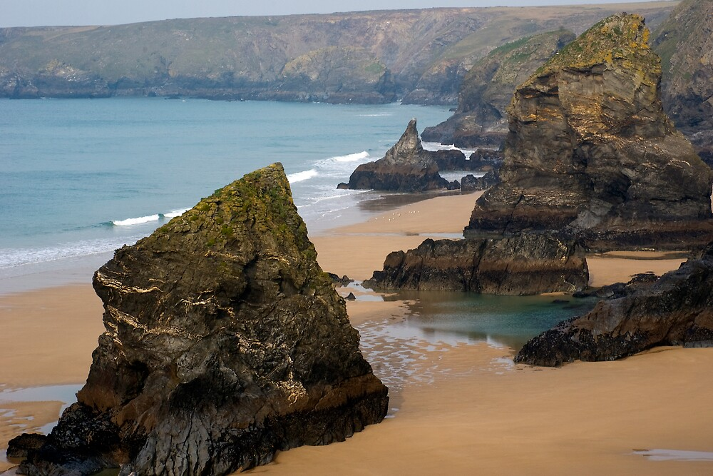 Bedruthan Steps North Cornwall by David Wilkins