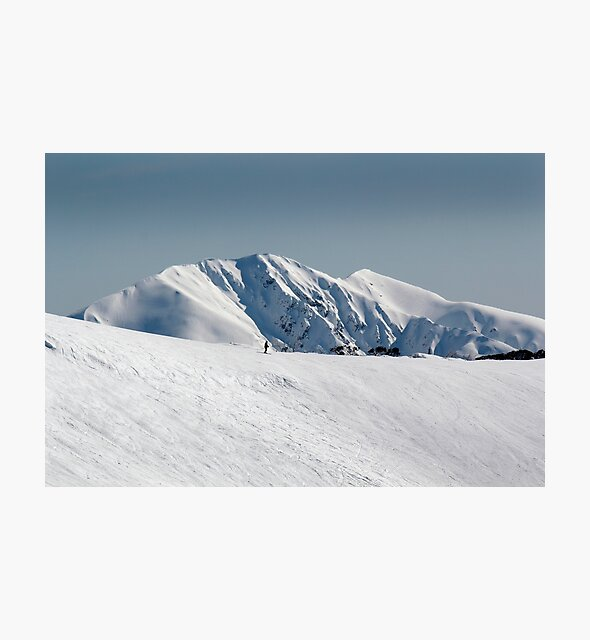 Snow on the mountainside 2 by John Wallace
