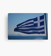 Greek Flag Canvas Print