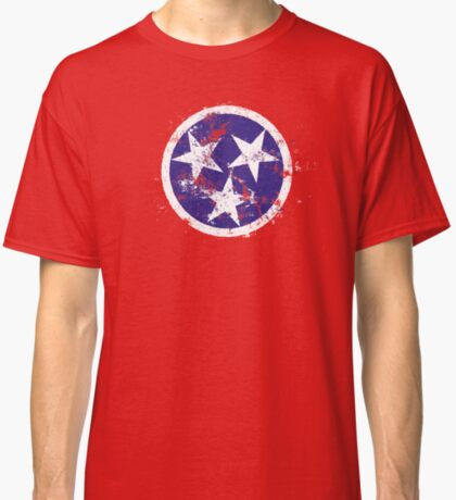 Distressed State Flag Of Tennessee Classic T-Shirt