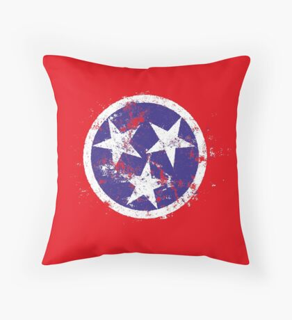 Distressed State Flag Of Tennessee Throw Pillow