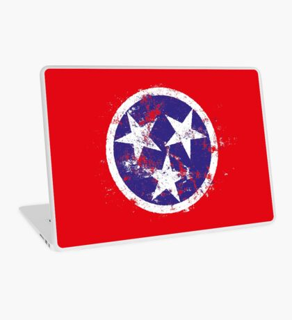 Distressed State Flag Of Tennessee Laptop Skin