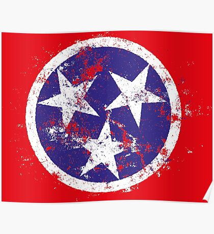 Distressed State Flag Of Tennessee Poster