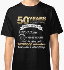 Wedding Anniversary Married 50 Year Couple 50th T-shirt Classic T-Shirt