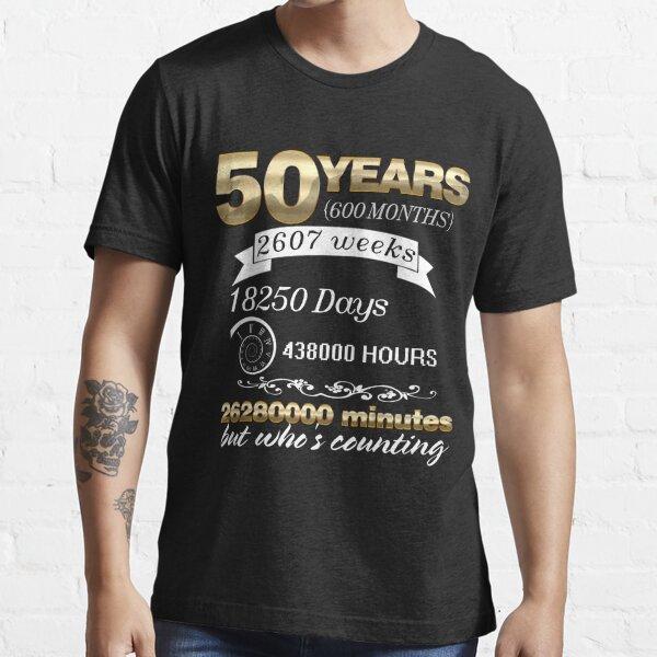 Aniversario de Boda Casado 50 Aniversario de Pareja 50 Aniversario Camiseta esencial