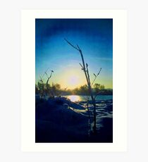 hampermill lakes Art Print