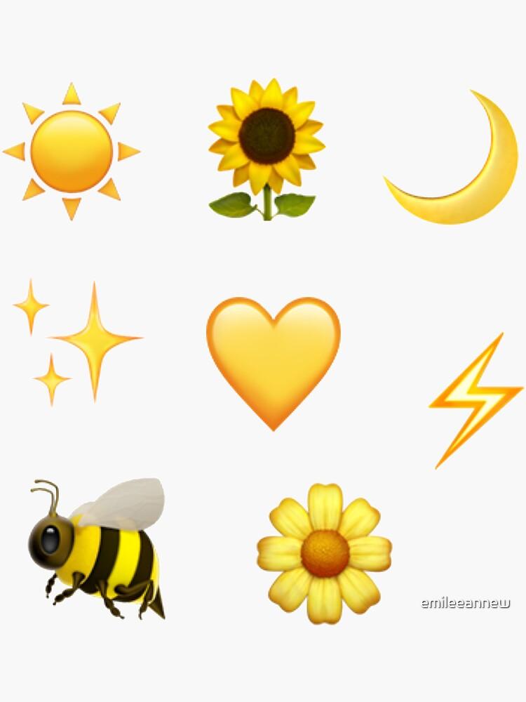 yellow emoji sticker pack  by emileeannew