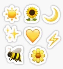 yellow emoji sticker pack  Sticker