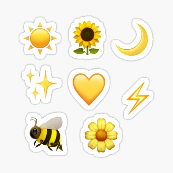 gelbe Emoji-Aufkleberpackung Sticker