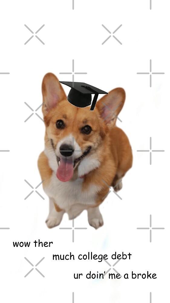 College Doggo  by thecorgistore