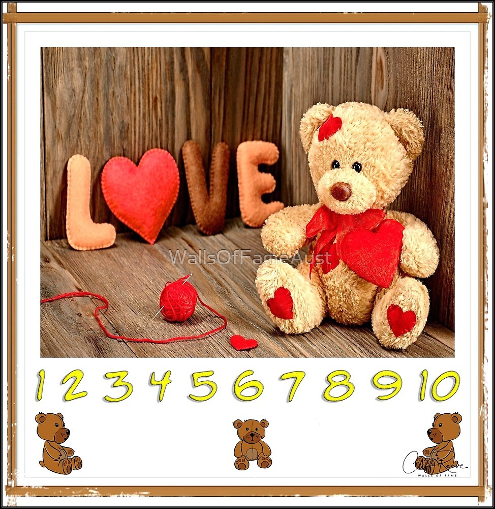 Let's Learn Numbers 1 to 10 With Teddy Bear by WallsOfFameAust