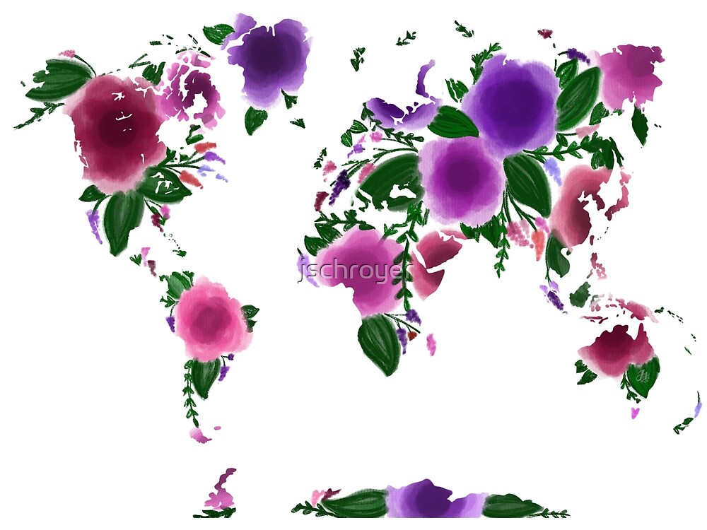 World map by jschroyer