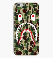 Vinilo o funda para iPhone Army Shark Bape Case