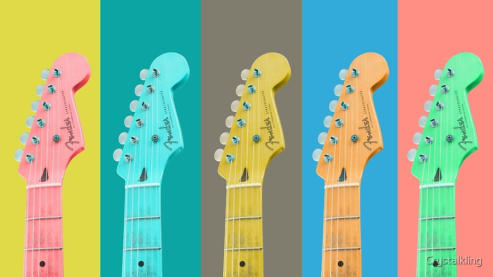 Rock the guitar in Pastel by Crystalkling