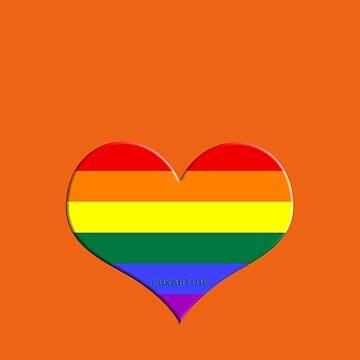 gay heart - gay, love, csd, rainbow, lesbian, pride by fuxart