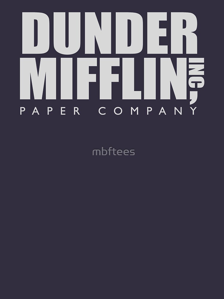 Dunder Mifflin by mbftees