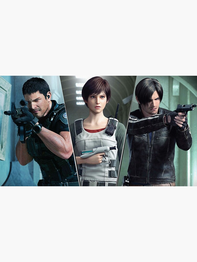 Resident Evil Vendetta Chris Rebecca And Leon Greeting Card By