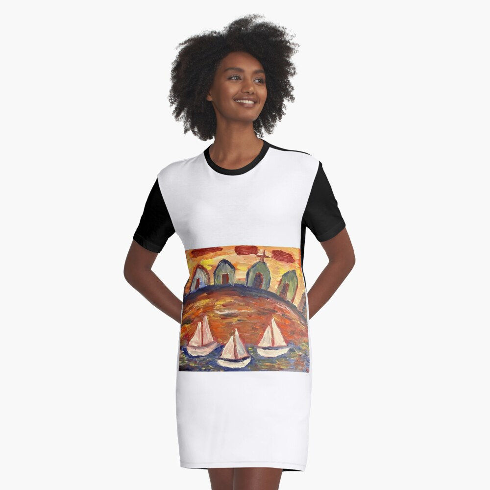 Untitled Graphic T-Shirt Dress Front