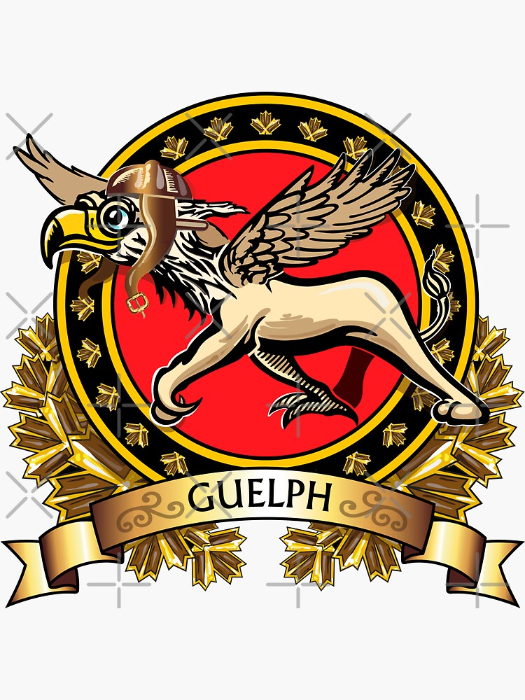 Quot Guelph Gryphons Crest Quot Sticker By Sunnoonpark Redbubble