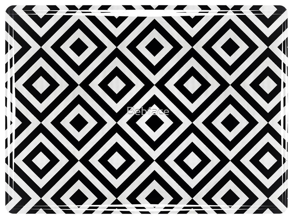 Black and White Geometric Pattern by Bebface