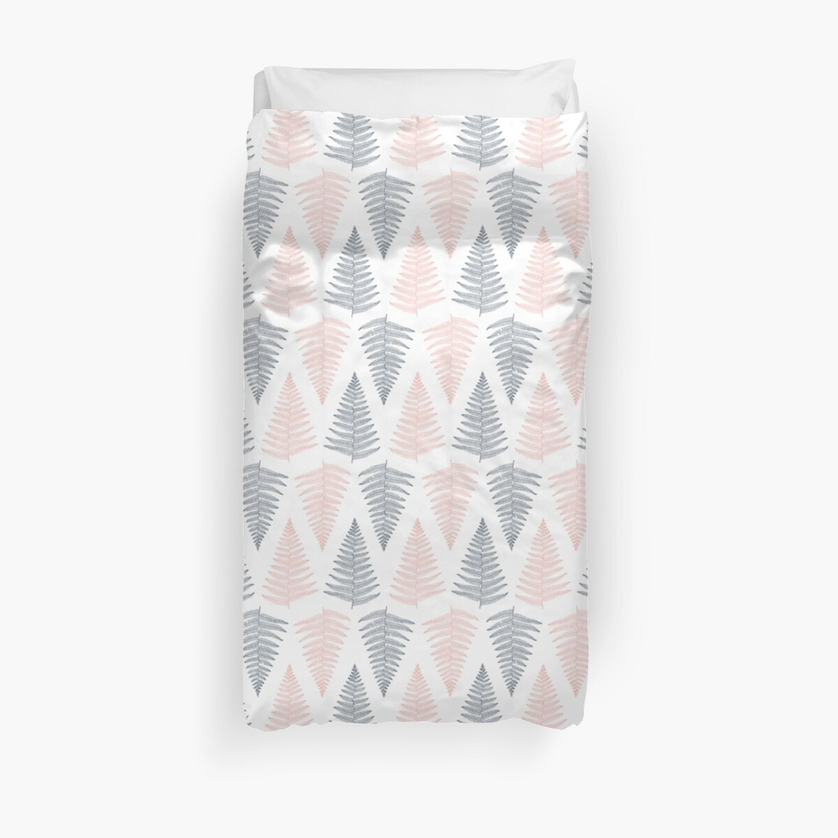 Pink and Gray Fern Pattern by heartlocked