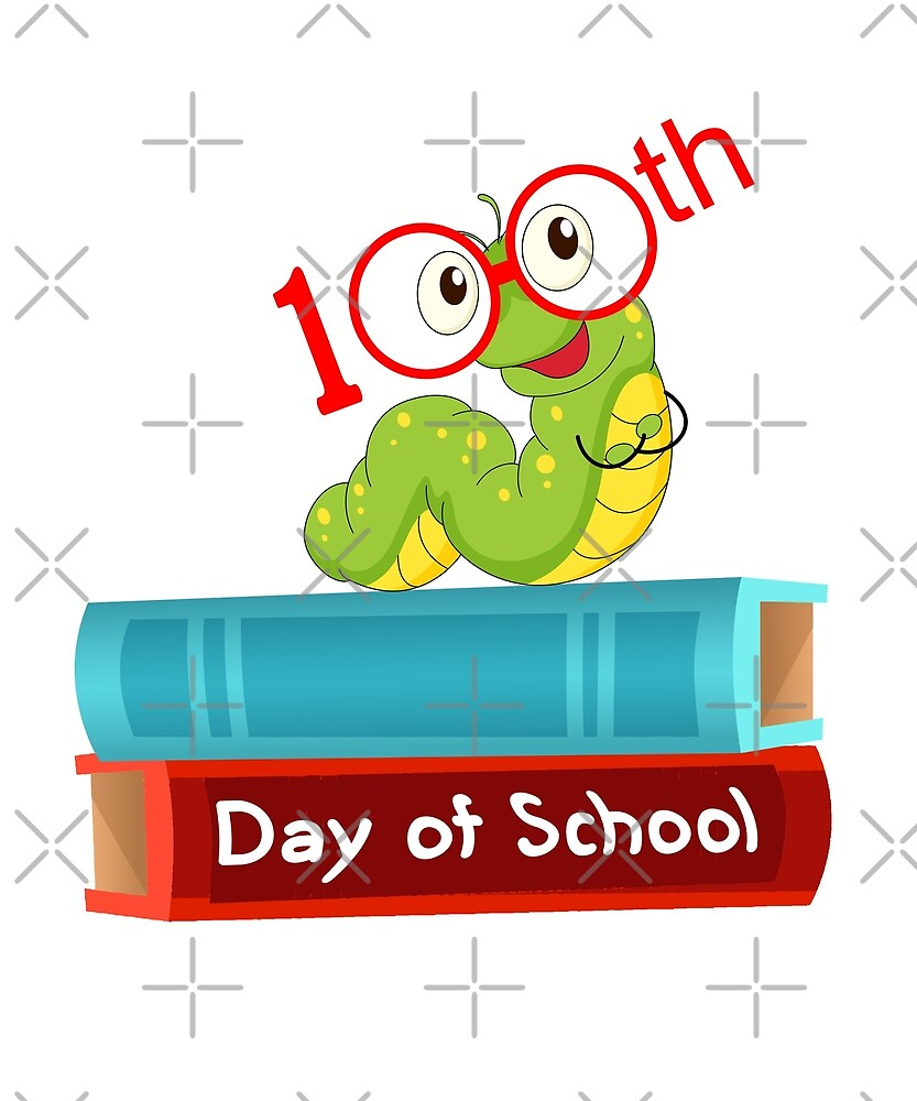 100 th. Day Of School Reading Worm by PopArtDesigns