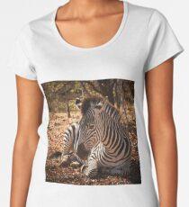Zebra in Sambia Premium Rundhals-Shirt