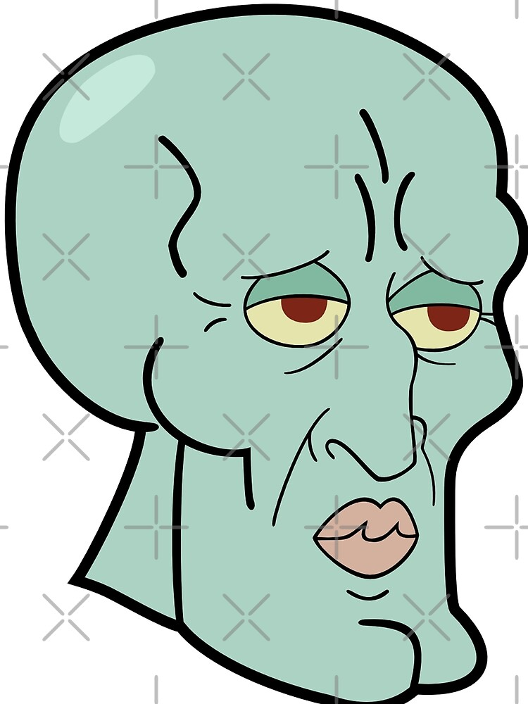 handsome squidward meme reaction face graphic t shirt by kingzel