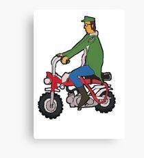 Jhon Lennon on Motorcycle  Canvas Print