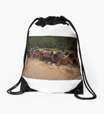 Horse Muster in Glenworth Valley Drawstring Bag