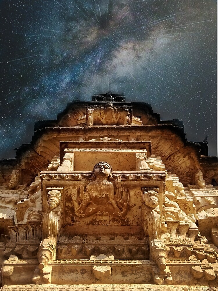 Temple & milkyway by Iamperspective
