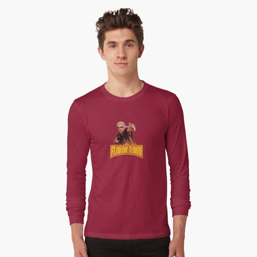 FLAVOR TOWN USA - GUY FlERl Long Sleeve T-Shirt Front