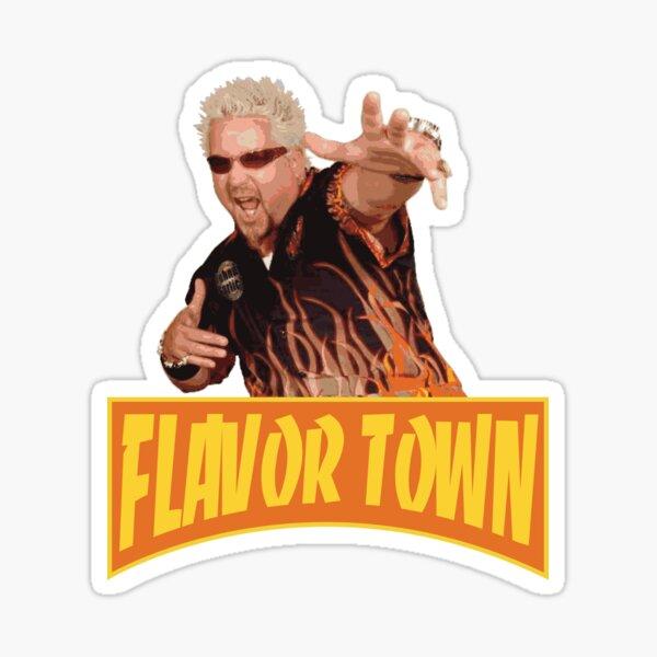 FLAVOR TOWN USA - GUY FLERl Pegatina