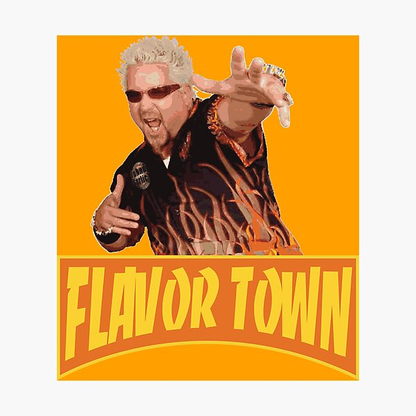 FLAVOR TOWN USA - GUY FlERl Photographic Print