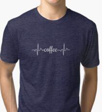Coffee Heartbeat Tri-blend T-Shirt